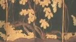 4 panel painted screen Japanese, good condition, silk painting